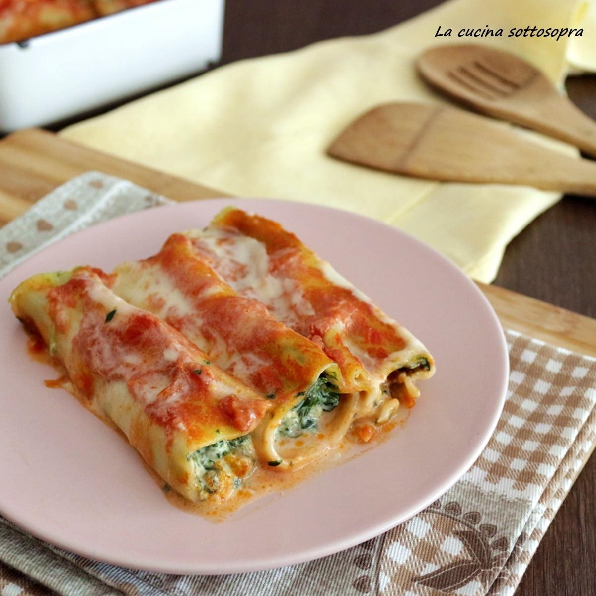 CANNELLONI - Porzione 350 grammi / Ripieno di ricotta e spinaci - * Prodotto surgelato * - 7,00€