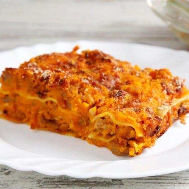 LASAGNE AL RAGU' - Porzione 350 grammi / Pomodoro e carne macinata - * Prodotto surgelato * - 7,00 €